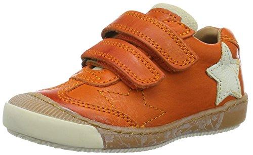 Bisgaard Klettschuhe, Sneakers basses mixte enfant Orange (2001-1 orange)
