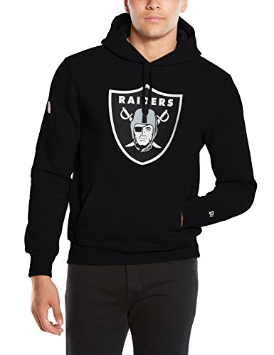 New Era - Team Logo Hoody Oakland Raiders, Felpa da uomo, nero (black), X-Large