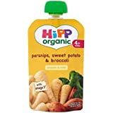 Hipp Panais Organiques, La Patate Douce Et Le Brocoli 4 + Mois 100G