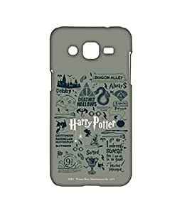 Harry Potter Infographic Grey - Sublime Case for Samsung J2 Mc Sidrazz