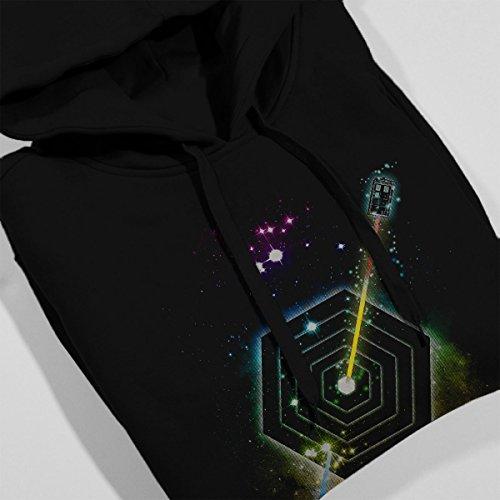Space Fragmentation Travel Doctor Who Women's Hooded Sweatshirt Black