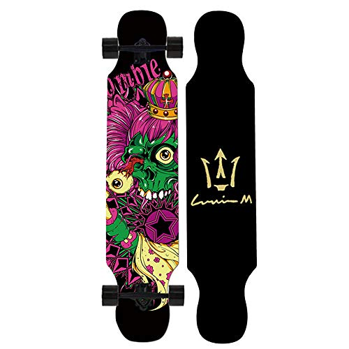 MEETLIEF Deck Skateboard Komplettes Skateboard Ahornholz Extremsport Skateboard Riemenscheibe Holzbrett Hoverboard Erwachsene Jugendliche,D (Warnung Skateboard Decks)