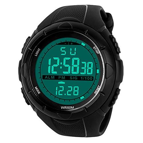 Para la práctica de deportes reloj Digital - 5 bares impermeable militar de los relojes...