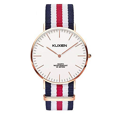 Uhren Damen, Herrenuhr,Uhren für Damen, Uhren Damen günstig,Unisex Armbanduhr Herren Damen Uhren, Hochwertiges Quarzwerk mit Einfache Casual Armbanduhr für Frauen Männer mit Nylon Band