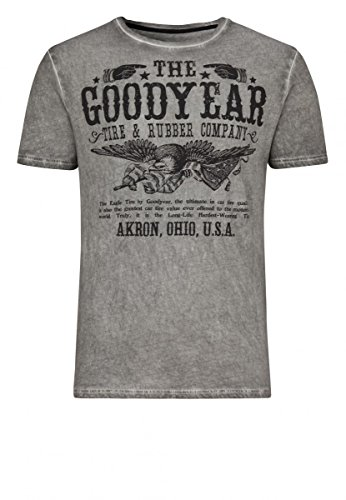 Goodyear T-Shirt Slim Fit Kokomo, Color:vintage anthra;Größe:XL