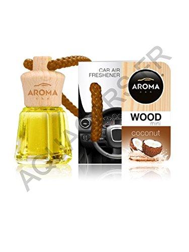 RaceFlag - Deodorante profumato, Mini Bottiglia, in Legno, Aroma Noce di Cocco, Fabbricazione Frances