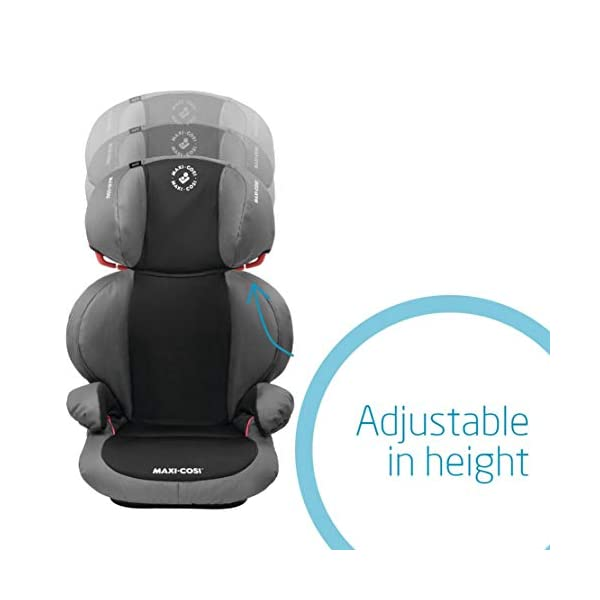 Maxi-Cosi Rodi SPS Child Car Seat, Lightweight, Side Protection System, 3.5-12 Years, 15-36 kg, Slate Black Maxi-Cosi Forward-facing car seat for children from 15 to 36 kg (approximately 3.5 to 12 years) Side protection system offers optimal protection against side impact Easily adjustable in height to suit a growing child 5