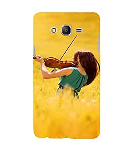 EPICCASE Girl with Voilin Mobile Back Case Cover For Samsung Galaxy E7 (Designer Case)