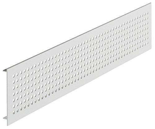 Lüftungsgitter Tür-Gitter silber eloxiert Abluftgitter Aluminium | Belüftungsgitter eckig | 500 x 100 mm | Türlüftung mit Rundlochung Ø 6 mm | Möbelbeschläge von GedoTec®