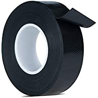 Lysignal Waterproof Self-Fusing Silicone Rubber Tape Electrical Tape for Coax Connectors/Coaxial Cable/Antenna/Emergency Repair, Black (25MM)