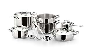 lagostina extravagant batterie de cuisine en acier inoxydable 13 pi 232 ces fr cuisine maison