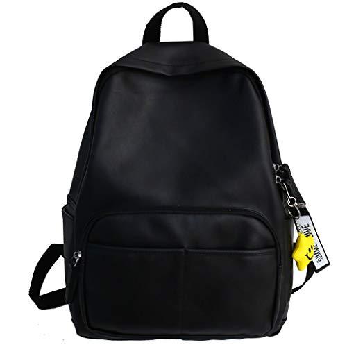 TIFIY Damen Rucksack Einfache Reißverschluss-Kontrast-Farben-Rucksack-Reisetasche der Art- und Weisefrauen im Freien Arbeits Täglich Bankett Elegant Tasche(Schwarz) -