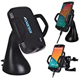 CHOE UPGRADED Qi Wireless Car Charger Dock with Universal Orienting Windshield / Dashboard and Air Vent Mount for SONY Xperia Z3V,Moto Droid Turbo,Nexus 5,Nexus 4, Droid Maxx/Mini,LG G3/G4 , Samsung, HTC and Other Qi Wireless Charger Phones