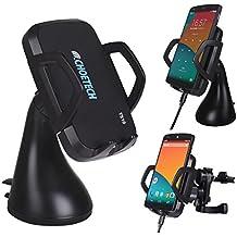 Caricabatterie Wireless da Auto - Choetech® [per la MACCHINA] Caricatore Wireless Qi con 3 Bobine di Ricarica per Samsung Galaxy S8 / S8 Plus/S6/S6 Edge/S7/ S7 Edge, Note 5, LG, HTC e altri dispositivi con Ricarica Wireless Qi - Nero
