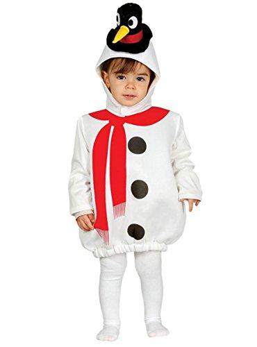 Süßes Schneemann Kostüm für Baby mit Hut - komplettes Weihnachtskostüm Baby Schneemann Kostüm Kind - Schneemann Kostüm für Kinder (Kostüme Schneemann Kind)