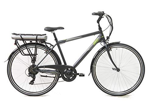 """STAX STX3, Bicicletta Elettrica Uomo, Nero Grigio, 28\"""""""