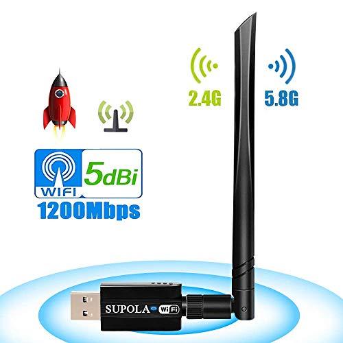 SUPOLA USB WiFi Adaptador 1200Mbps