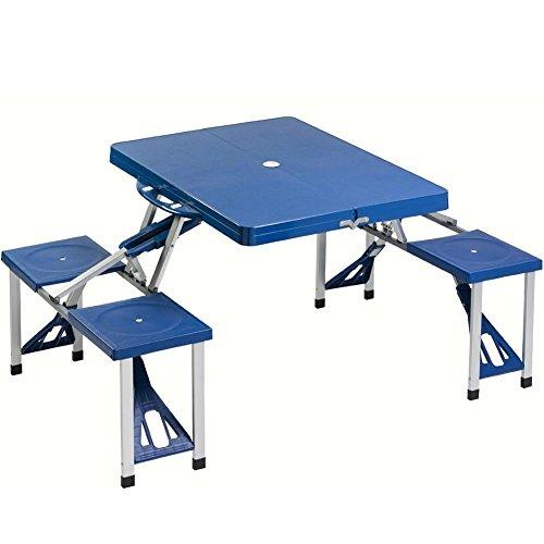 Tavoli Pieghevoli Alluminio Offerte.Bakaji Set Tavolo Tavolino Pieghevole Pic Nic Campeggio Struttura In