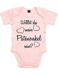 Mister Merchandise Baby Body Willst du mein Patenonkel meine Patentante sein? Strampler Bodysuit liebevoll bedruckt
