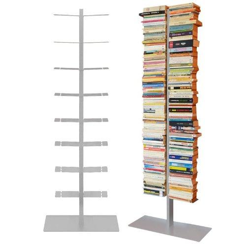 booksbaum double stand gross silber, 3tlg. best.aus: Halterung + Fuß + Einlegeböden