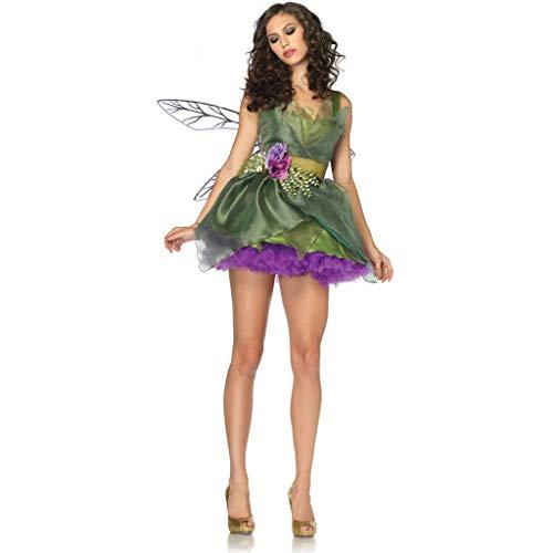 Kostüm Muster Rüstung - LNC-QQNY Sexy Dessous Halloween-Kostüm Sexy Game Suit Adult Green Forest Elf Rüstung Rollenspiele in Europa und Amerika (Color : Green, Size : Einheitsgröße)