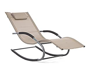 trueshopping lugano rocking patio sonnenliege beige. Black Bedroom Furniture Sets. Home Design Ideas