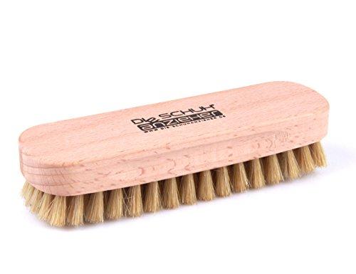 Spazzola per scarpe in legno di faggio con setole naturali – per la pulizia o per la lucidatura z2345(luminoso)