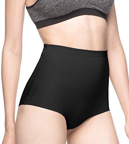 Lapasa shapewear mutande contenitivo invisibile fascia elastica da donna l12 (l(vita 79-81 cm / fianchi 104-106.5 cm), nero)