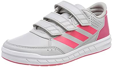 adidas Unisex-Kinder AltaSport CF K Gymnastikschuhe, Grau (Grey Two F17/Real Pink S18/Ftwr White), 28.5 EU