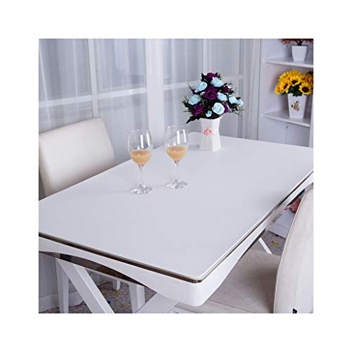 Konsole Pad (LLH PVC Computer Tischset, Schreibtisch Pad Schreibtisch Konsole Pad Leder Muster verschleißfest einfarbig Tischset ZHUOB (Farbe : Weiß, größe : 90 * 150cm))