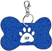 Sky Trends Bone Shape Collar Locket/Pendant for Dogs & Puppy -552, Multicolour, Medium, 1 Count -