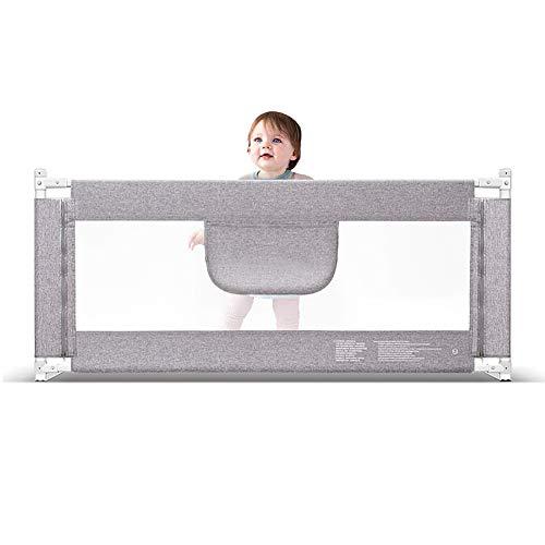 Barrera de Cama, Riel de Cama portátil para bebés, niños pequeños Guardabarros de Seguridad Levantador de Cuna de Seguridad Vertical para niños/niños - 85 cm Extra Alto