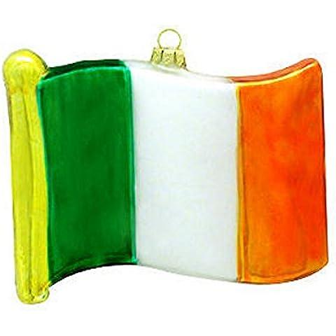 Irlanda bandiera ornamento in vetro