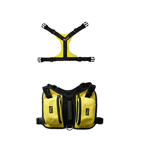 Iaywayii Harness Satteltasche Reflektierende Streifen Für Outdoor-Reisen Training Camping Wandern Bust Größe 100-124cm (Gelb)