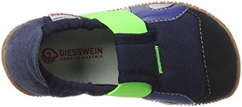 Giesswein Jungen Schwabach Flache Hausschuhe Blau (548 / dk.blau)