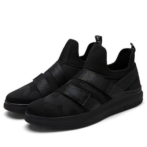 SITAILE Herren Laufschuhe Sneaker Sport Fitness Turnschuhe alles schwarz