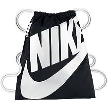 Nike Heritage Gymsack Mochila, Mujer, Negro (Black / White / White), Talla Única