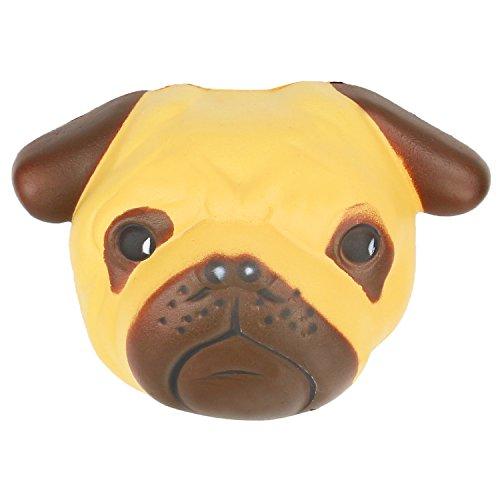 Jouet squishy de carlin de jouets soulage le stress crémeux mou et doux de soulagement de parfum pour des enfants et des adultes
