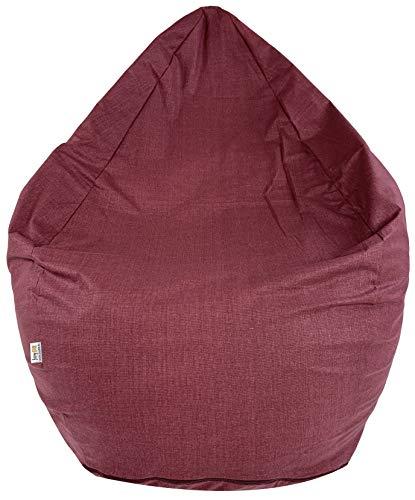 Joyfill Sitzsack mit Bezug, Stuhl für Kinder und Erwachsene, Weicher Stoff, 240L groß - Bordeaux Rot