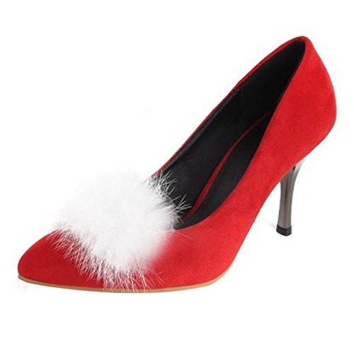 Puntiagudo Occidental De Hauts TAOFFEN Aiguille Escarpins Talons Femmes Chaussures Mariage Rouge 5CtWtqZp