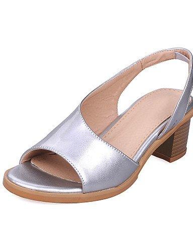 UWSZZ IL Sandali eleganti comfort Scarpe Donna-Sandali-Formale-Aperta-Quadrato-Finta pelle-Giallo / Rosa / Bianco / Argento Pink