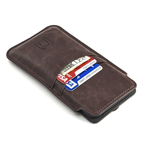 El Estuche Tarjetero Dockem para iPhone XS y iPhone X (iPhone 10) es un estuche cartera altamente funcional y atractivo. La piel sintética vintage premium le da tacto sofisticado que le proporciona una apariencia versátil; encaja con tus jeans pero t...