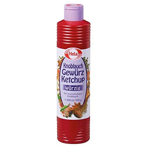 Hela Knoblauch Gewürz Ketchup 800 ml, 6er Pack (6 x 800 ml)
