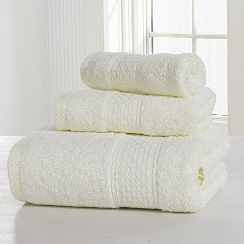Set Asciugamani, Cotone, Più Colore, Confezione Da 3 ( Colore : 4#Grey ) 2#Tender yellow