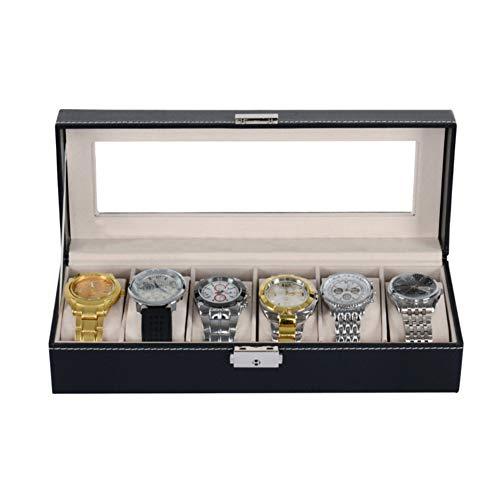 tlfyajj Boîte de stockage des Monili de l'organisateur de la vitrine d'Exposition des bijoux de la surveillance de bois des pans de grille 6 multicolore