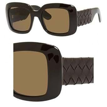 Bottega Veneta Women's 1000 Leather Brown / Brown Leather Frame/Brown Lens Plastic Sunglasses