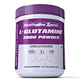 HealthyHey Sports Glutamine Powder, Muscle Growth and Recovery - 300g - 100 Servings