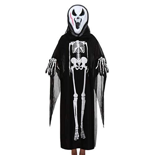 stüm Frauen Männer&Kleinkind Jungen Mädchen Kinder Halloween Cosplay Kostüm Mantel + Maske + Handschuhe Outfits Set (Frauen & Männer G) ()