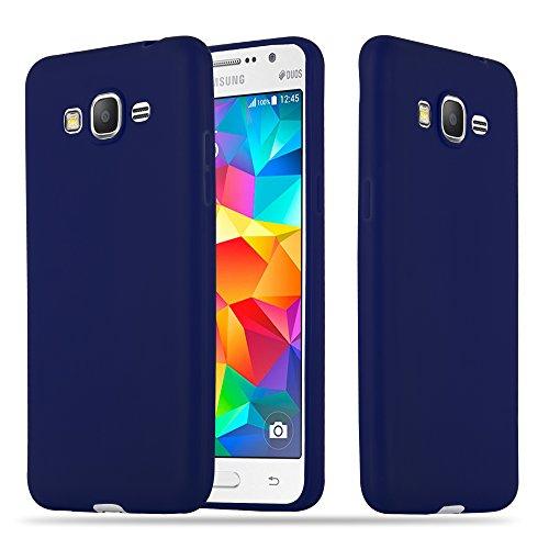 Cadorabo Funda para Samsung Galaxy Grand Prime en Candy Azul Oscuro - Cubierta Proteccíon de Silicona TPU Delgada e Flexible con Antichoque - Gel Case Cover Carcasa Ligera