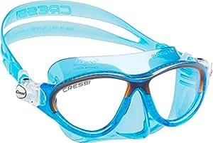 Cressi Kinder Moon Kid Tauchmaske, Blau/Orange, One Size